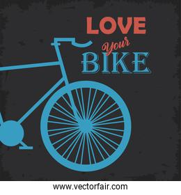 love your bike poster