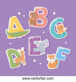 various animals letters