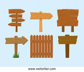 wooden signboards fence