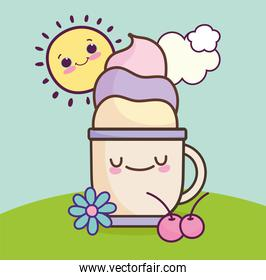 cute cup with cream