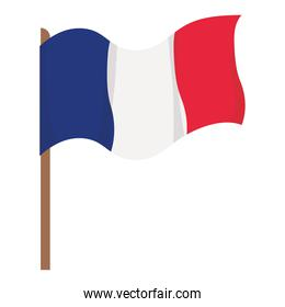 waved french flag
