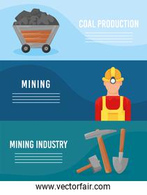 mining industry banners
