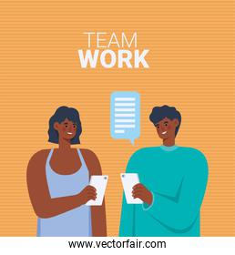 people working together