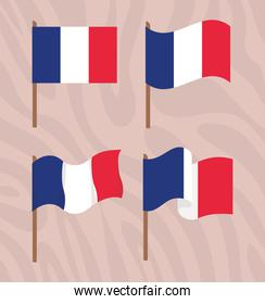 french flags pack