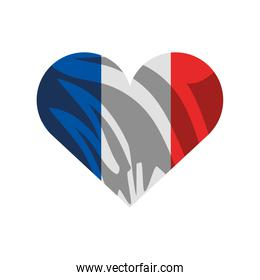 heart french flag