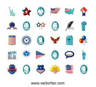 american collection icons
