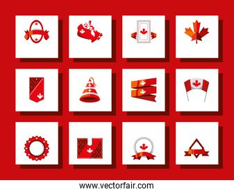 canadian red icons