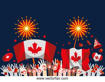 independence canadian festive