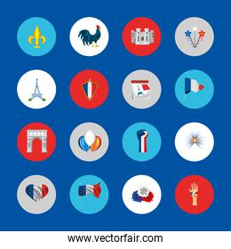 france rounded icons