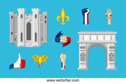 france architecture flag