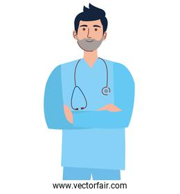 man doctor character