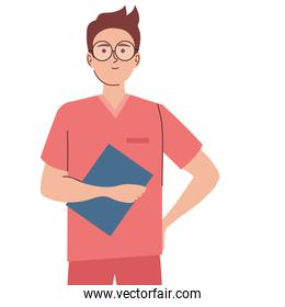 doctor with document