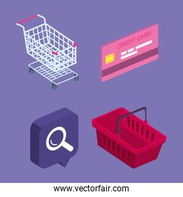collection shopping online icons