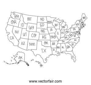 usa map and states