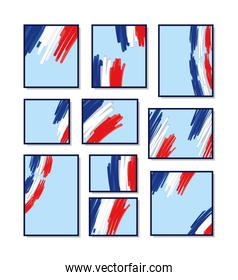 french flag cards
