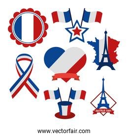 french flags icons
