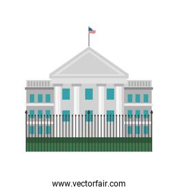 white house with american flag