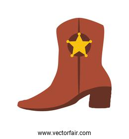 west leather boot