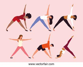people different yoga poses