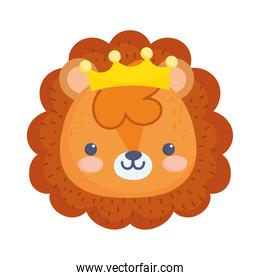 lion with crown face