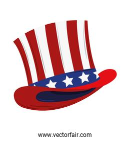 hat with USA flag