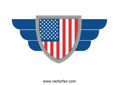 usa shield and wings