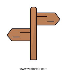 wooden road sign