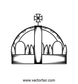 crown with cross