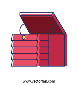 red tools cabinet icon