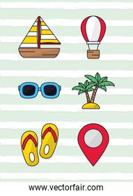 beach and traveling