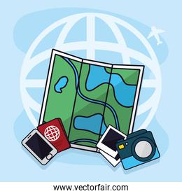 map and traveling