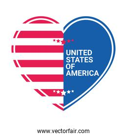 united states of america heart