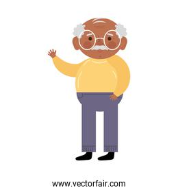 afro grandfather character