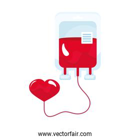 blood bag and heart