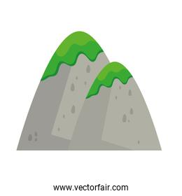 mountains with grass