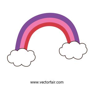 cute rainbow and clouds