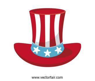 usa flag in tophat