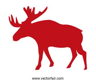 red moose silhouette
