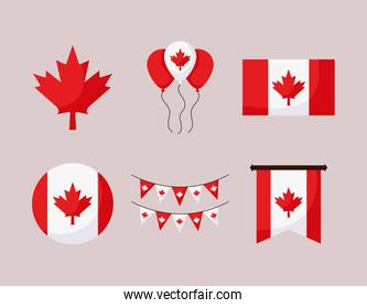 canada day icons