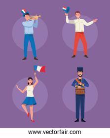 french persons celebrating
