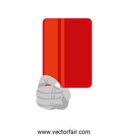 hand with red card