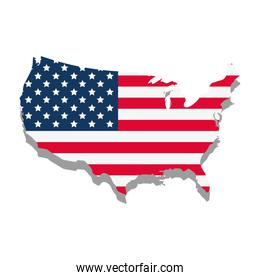 usa flag in map