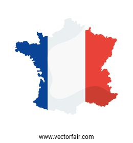 france flag in map