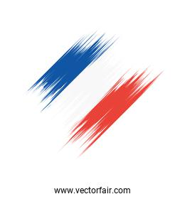 france flag painted