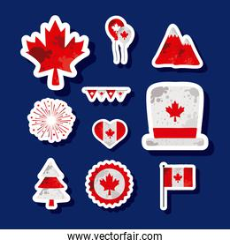 canada day ten icons