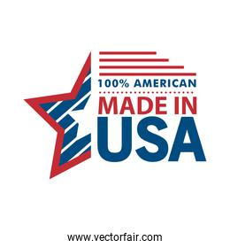 made in usa star