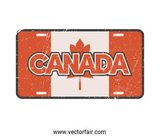 licence plate canadian