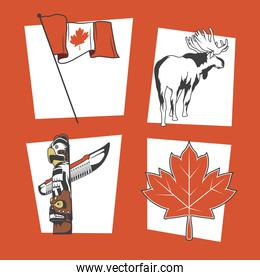 canada day four items
