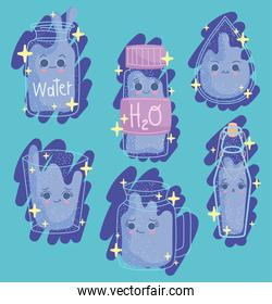 drink water icons