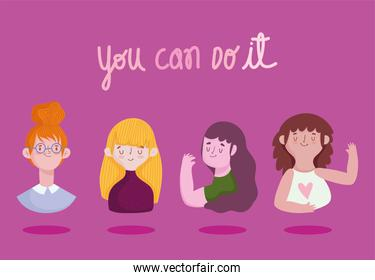 girls, you can do it